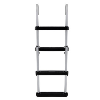 AL-B4 Compact Aluminum Four-Step Pontoon Boat Ladder