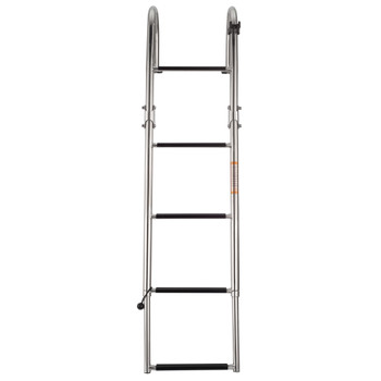 SSL-BCK-T3L Stainless Steel Rear Entry Telescoping Pontoon Boat Ladder