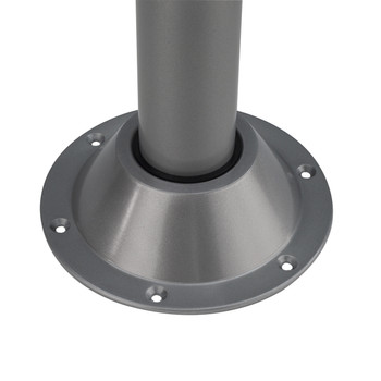 RecFit Silver Surface Mount Recessed Bracket for RV Dinette Table Leg