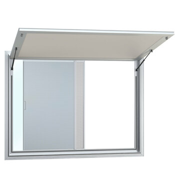 Concession Stand Trailer Serving Window w/ Awning Cover 2 Window