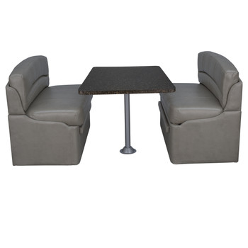 """RecPro 36"""" RV Dinette Booth with Optional Table and Leg"""