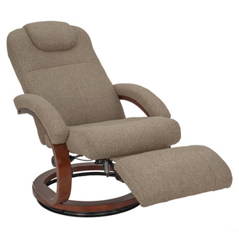 "RecPro Charles 28"" RV Euro Chair Recliner in Suprima Linen Oatmeal"