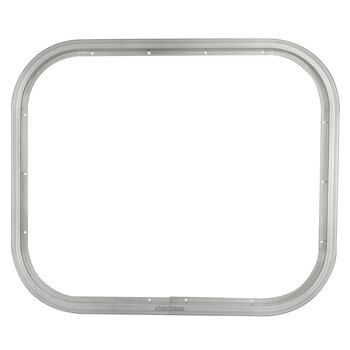 Horse Trailer Feeder Door Trim and Locking Ring