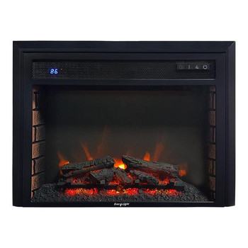 "26"" Electric RV Fireplace Flat Glass on"