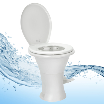 "Ceramic RV Toilet Standard 18"" Height"