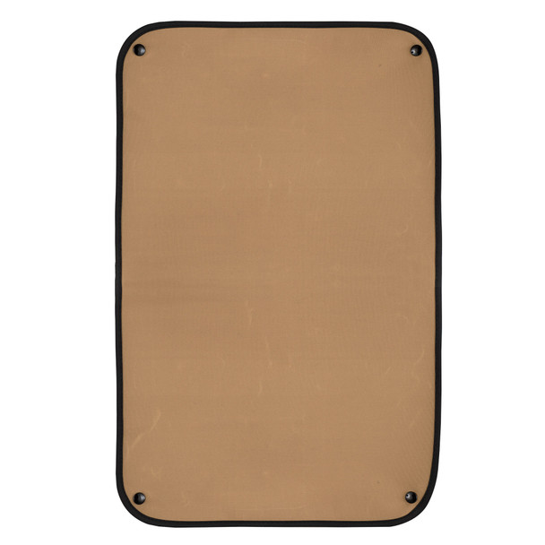 RV Window Shade for Entry Door with Snaps - Tan