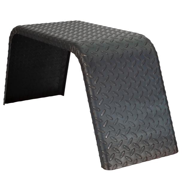 "Steel Diamond Plate Tandem Axle Trailer Fenders 32"" x 13"" x 10"""