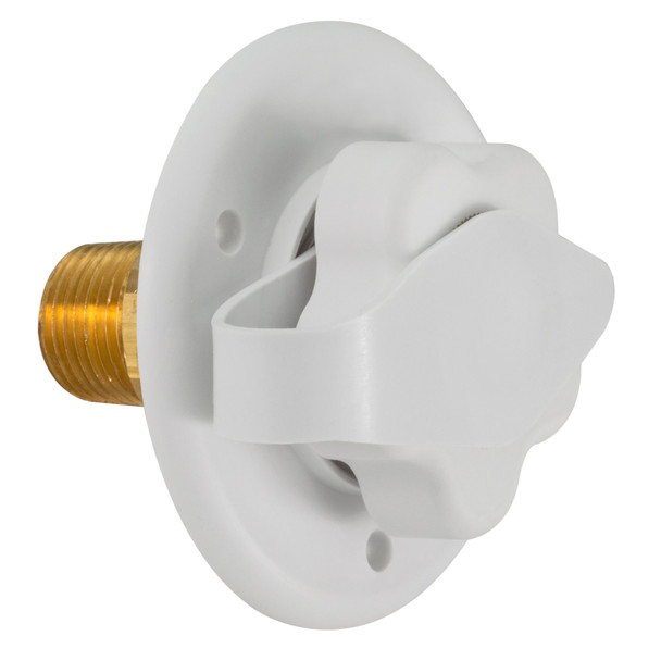 RecPro RV White City Water Fill Inlet Brass with Check Valve