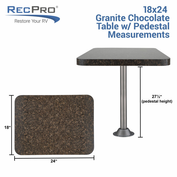 """RecLite LS RV Table 18"""" X 24"""" with Optional Leg System"""