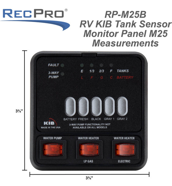 RV KIB Tank Sensor Monitor Panel M25