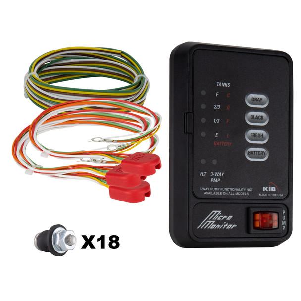 KIB Tank Sensor Monitor Panel M21 with Wiring Harness Kit