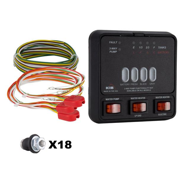 KIB Tank Sensor Monitor Panel M23 with Wiring Harness Kit
