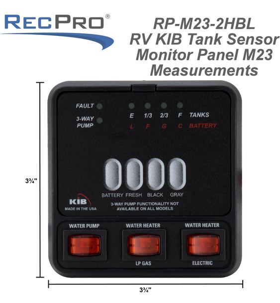 RV KIB Tank Sensor Monitor Panel M23 with Wiring Harness Kit