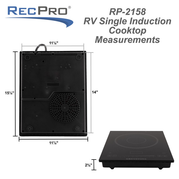 RV Induction Cooktop with Pan 1300W Portable