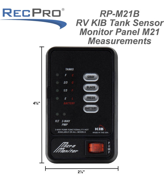 RV KIB Tank Sensor Monitor Panel M21