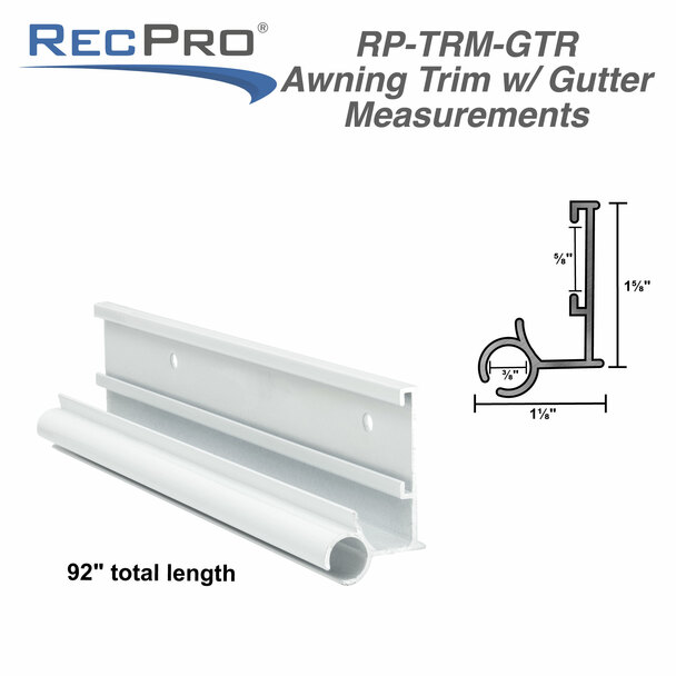 RV Awning Trim with Gutter 92""