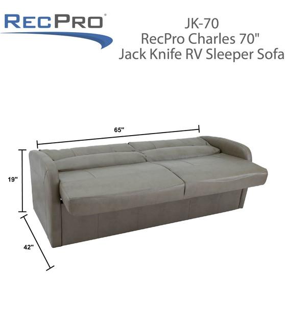 RV Sleeper Sofa Jackknife