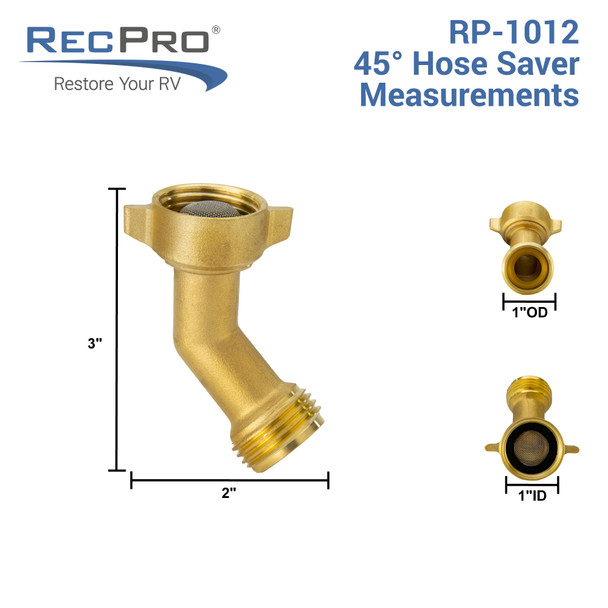 45 Degree Hose Elbow for City Water Fill RV Plumbing