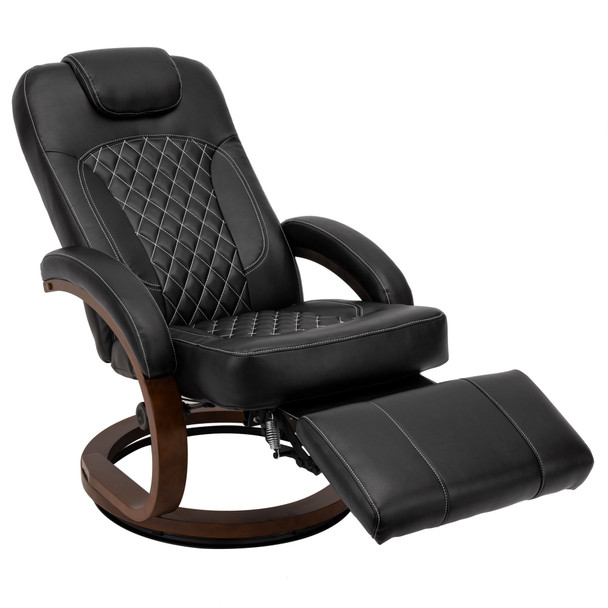 RV Euro Chair Recliner in Black