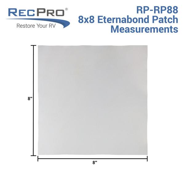 "RV Roof Repair Patch 8"" x 8"""