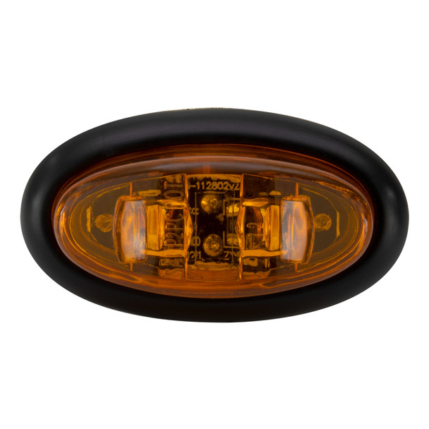 """1.5"""" LED Mini Oval Surface Mount Marker Clearance Lights Multiple Colors"""