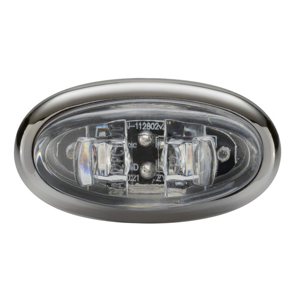 "1.5"" LED Mini Oval Surface Mount Marker Clearance Lights Multiple Colors Chrome"