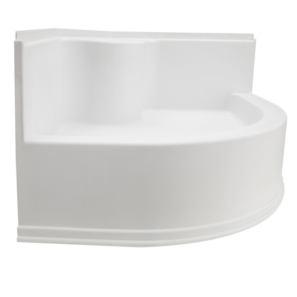 "RV Shower Pan 34"" x 34"" Corner Radius in White"