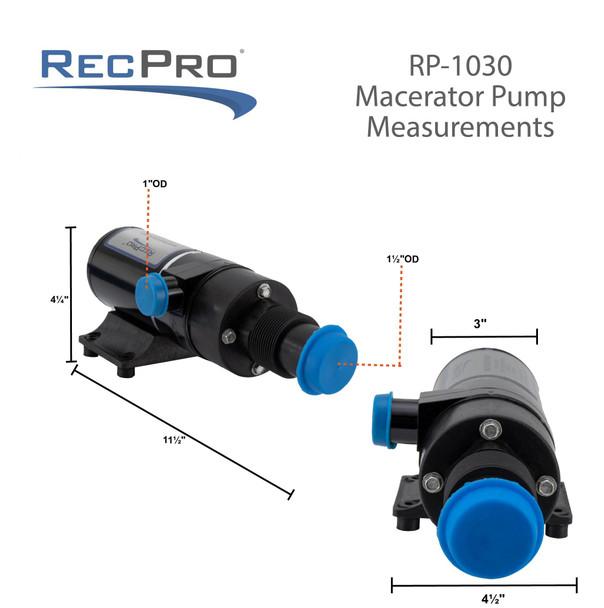 RecPro 12V RV Macerator Pump