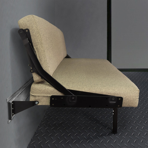 Wall Mount Sofa with Adjustable Legs in Cloth