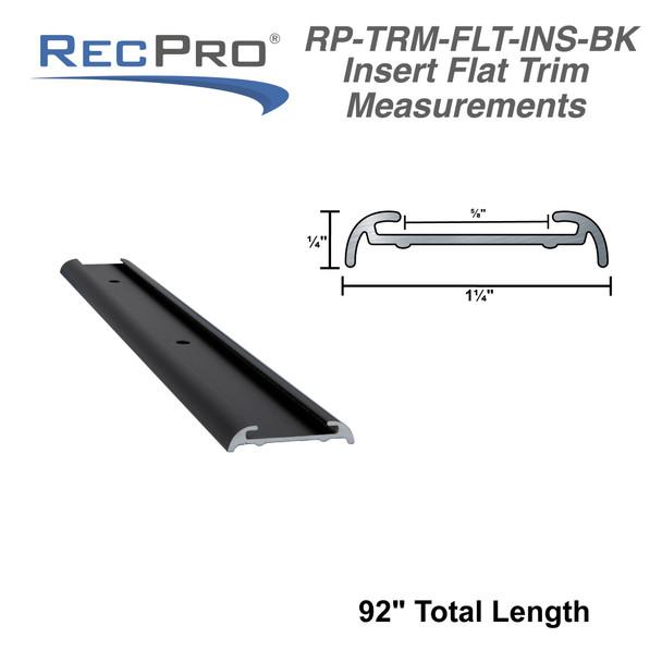 """RV Insert Roof Flat Trim Black 92"""""""