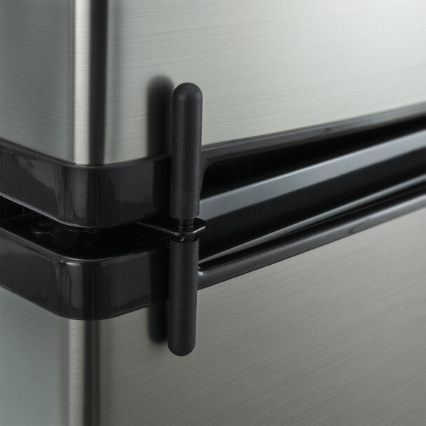 RV Refrigerator 4.5 Cubic Feet 12V Stainless Steel