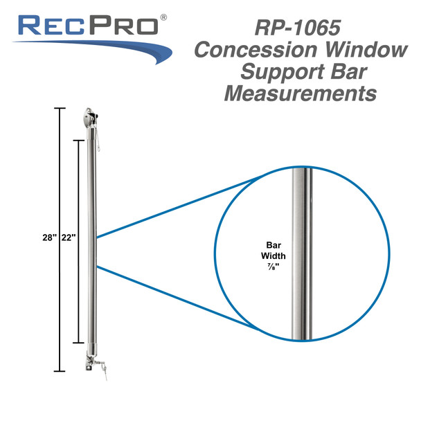 """Concession Support Bar Stainless Steel 24"""" Pair"""