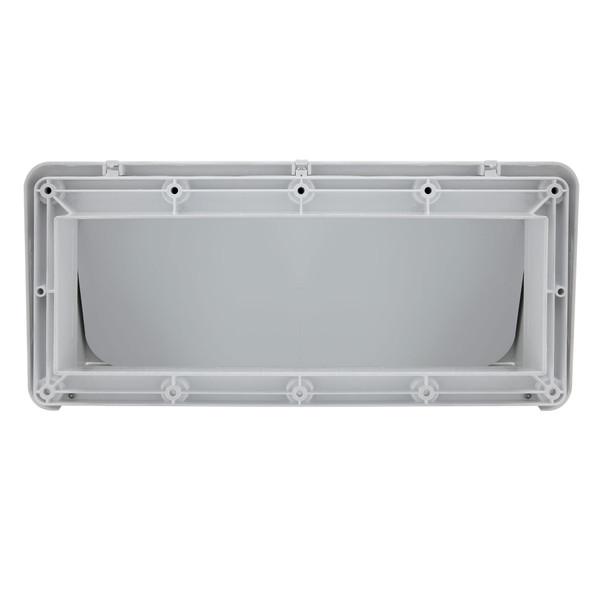 RV Range Vent Cover with Locking Damper White