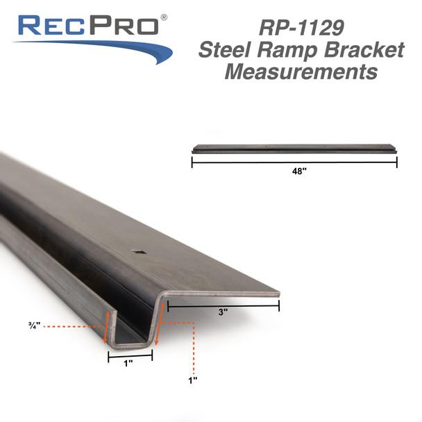 """72"""" x 12"""" Heavy Duty 10ga Steel Trailer Loading Ramps with Mounting Bracket"""