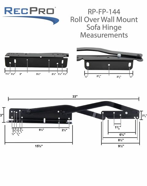 RV Roll Over Sofa Bed Hinge Kit DIY