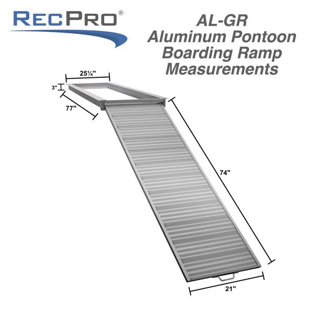 Pontoon Boat Aluminum Loading Ramp for Shore and Dock Boarding