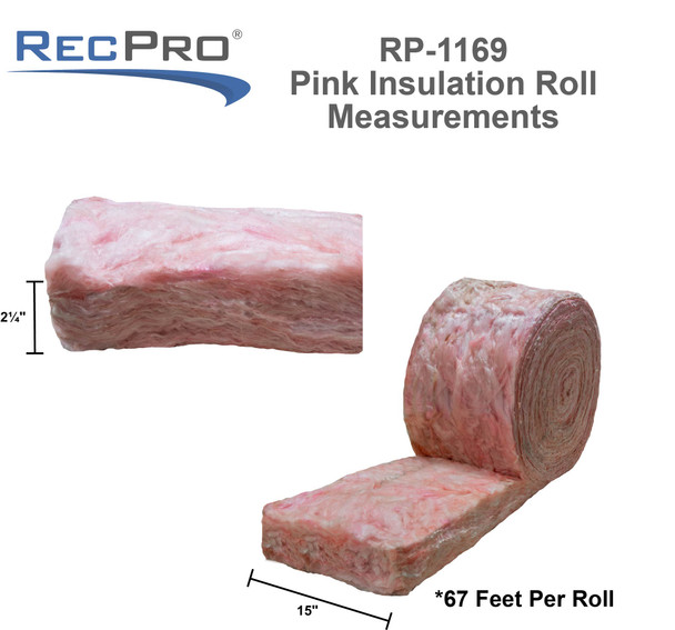 "RV Fiberglass Insulation Unfaced 15""x67' Roll"