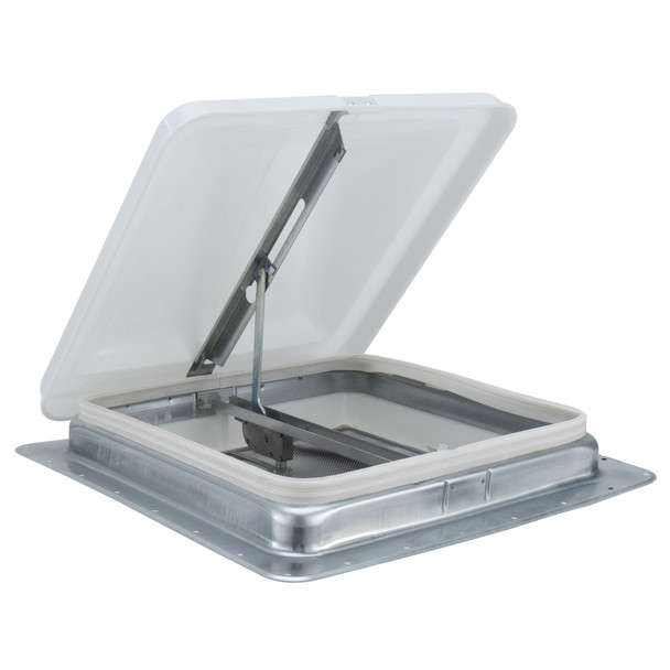"RecPro 14"" RV Roof Vent Kit w/ Butyl Tape White # 71111-C"