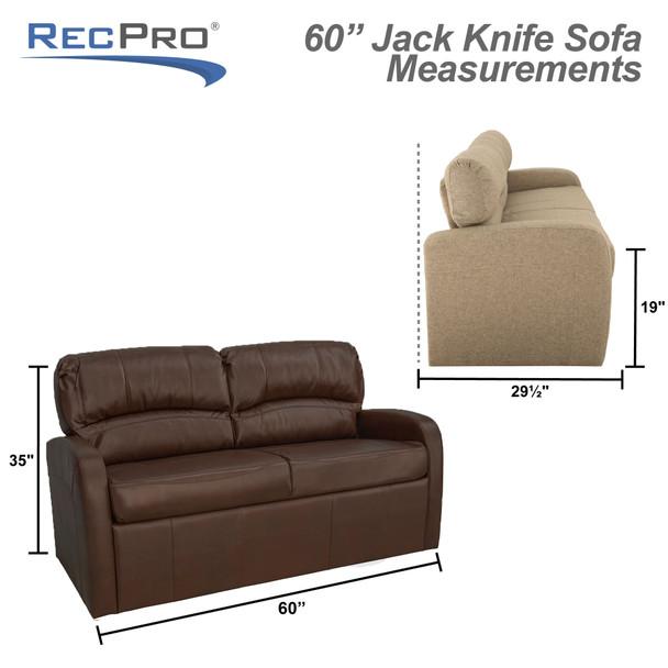 "RecPro Charles 60"" RV Jackknife Sleeper Sofa"