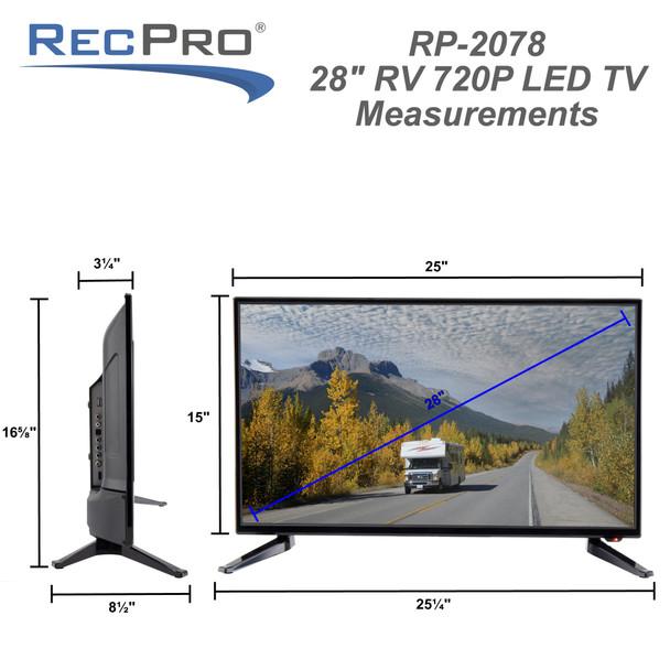 "RV 28"" Television 720p LED Screen 12/120-Volt TV"