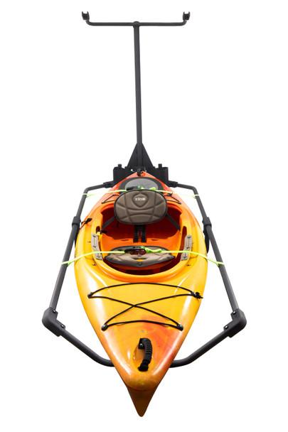 RV Bumper Mounted Kayak Rack Vertical Standing