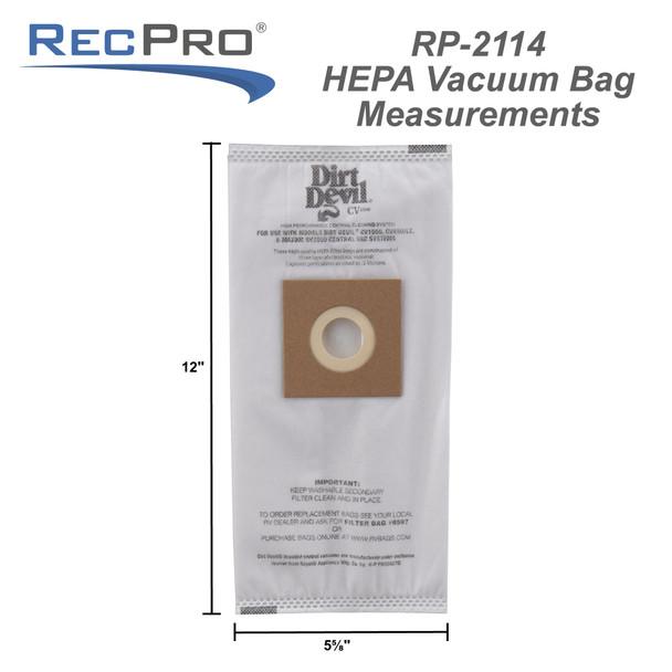 3 Pack Hepa Bags