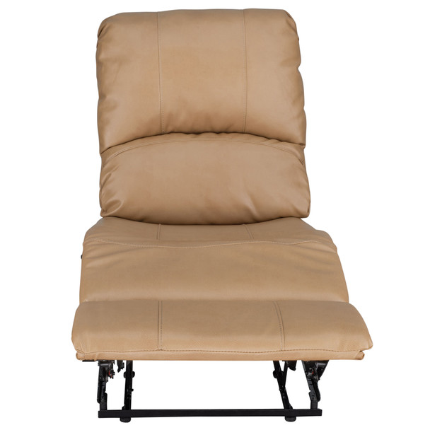 """RecPro Charles 22"""" RV Recliner and Drop Down Comfort Console w/ Cup Holders"""