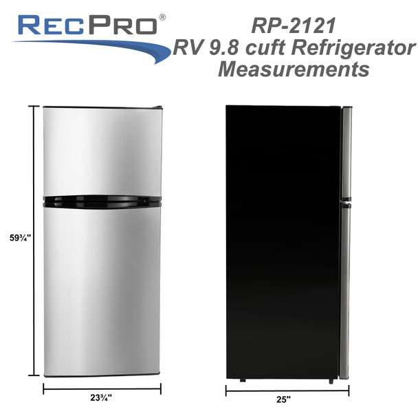 RV Refrigerator 9.8 Cubic Feet 110V