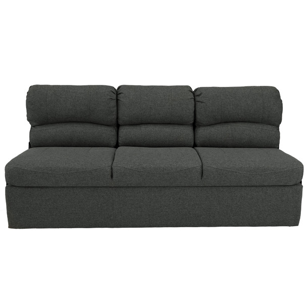 """RecPro Charles 68"""" RV Jackknife Sleeper Sofa with Drop-Down Cupholders in Cloth"""