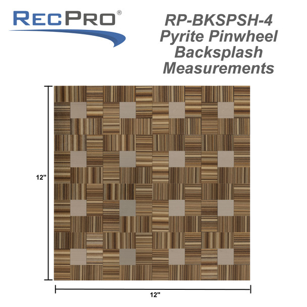 "RV Backsplash Woven Bamboo Tile 12"" x 12"" Peel and Stick"