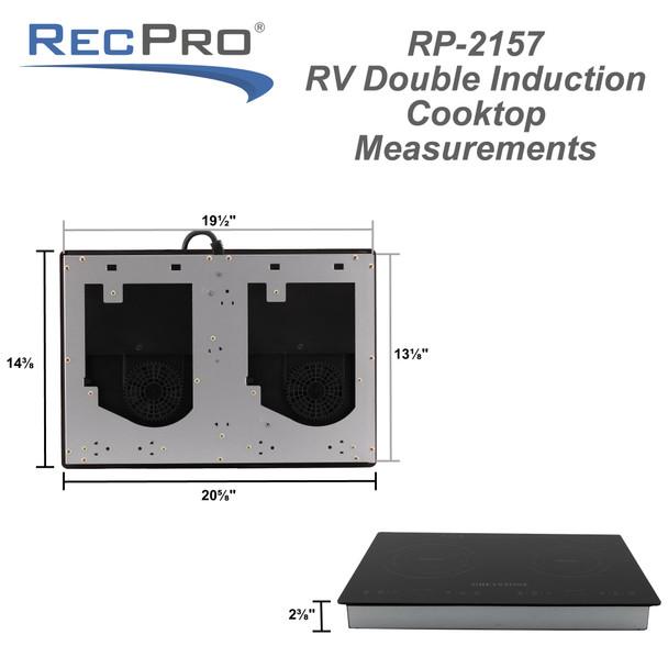 RV Induction Cooktop Dual Burner Electric Range