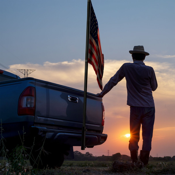Trailer Hitch Flag Pole Mount