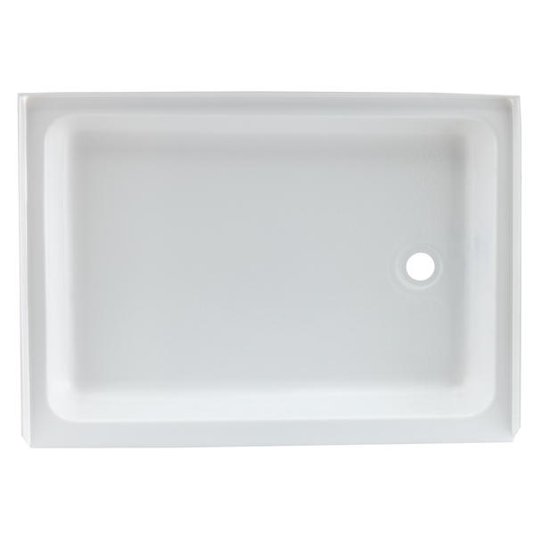 """RV Shower Pan 32"""" x 24"""" x 5"""" Right Drain in White"""