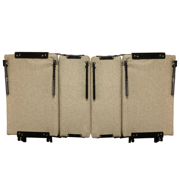 """RecPro 38"""" Wall Mount Rollover Dinette Booth with Adjustable Legs"""